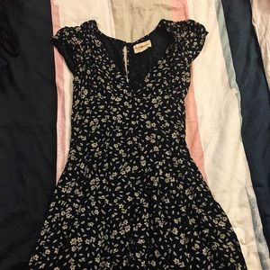Denim & Supply floral cutout dress